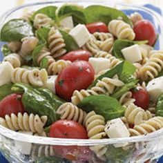 Spinach, Tomato, and Fresh Mozzarella Pasta Salad with Italian ...