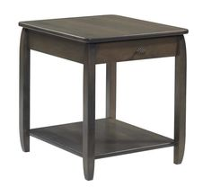 Amish Apache Solid Wood End Table With one drawer and an open lower shelf, the Apache shines in solid wood! You get to choose the wood, finish and hardware for these custom accent tables. Amish made in America.
