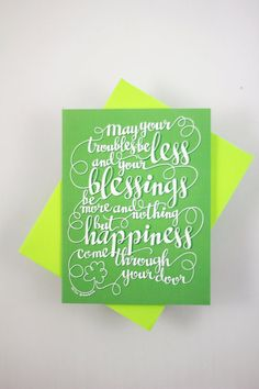 Irish blessing May your troubles be less one by HowjoyfulShop on Etsy