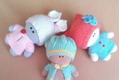 esquemas de juguete bebé yo-yo en la ropa muñecas de punto descripción