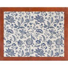 Ophelia & Co. 'Toile Fabrics' Graphic Art Print Format: Canadian Walnut Medium Framed