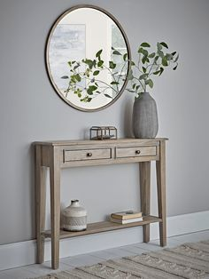 NEW Camille Console Table - Limewash - Small & Narrow Console Tables - Console Tables - Luxury Modern Tables - Modern Home Furniture Hallway Table Decor, Entryway Console Table, Decoration Bedroom, Hallway Furniture, Hallway Decorating, Entryway Decor, Room Decor, Console Table Styling, Wooden Console Table