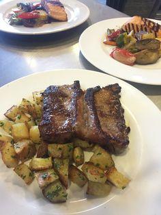 Bistecca y Salmon