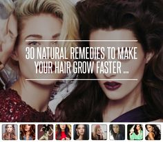 30 #Natural Remedies to Make Your Hair Grow #Faster ... → Hair #White