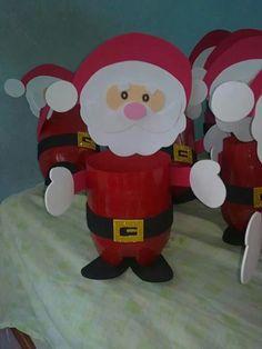 Dulcero navide o navidad santa claus decoraci n - Trabajos en goma eva navidad ...