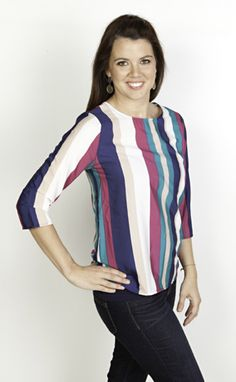 new #striped top now available at biminibutterfly.com. #biminibutterfly #fallclothing