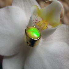 äthiopien opal anhänger für stahlseide, 925 silber vergoldet, ca. 1,3ct.
