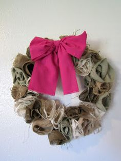Princess E. and Me: Burlap Rosette Wreath Tutorial