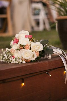 Bridal Bouquet | Country themed wedding | Pinks and Whites | Rustic Wedding Pictures | Photo by Photography For A Reason
