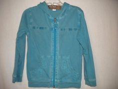 Old Navy Toddler Size 4T Teal Blue Washed Hooded Zip Girls Sweatshirt Jacket #OldNavy #Everyday