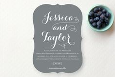 Just Lovely Wedding Invitations by Sara Hicks Malone at minted.com
