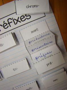 Un idée ludique pour aborder les suffixes et les préfixes