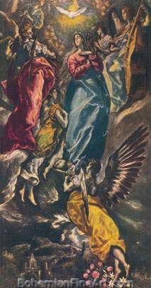 Domenico El Greco, Assumption of the Virgin Fine Art Reproduction Oil Painting