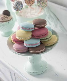 Fake Macaroons Using Collage Clay - Decoupage - French Macaroons