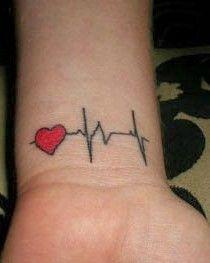 tatuagem-pulso-coracao-batimentos Tatuagem New School, In A Heartbeat, Tattoo Inspiration, Tatoos, Piercings, Polyvore, Biomechanical Tattoo, Tattoo Finger, Heart Tattoos On Wrist