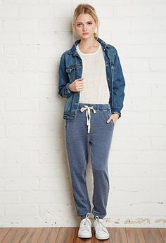 Faded French Terry Sweatpants | Forever 21 - 2000155865