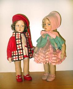 110 Series Lenci dolls, 1920's , private collection of R. John and Susan Wright