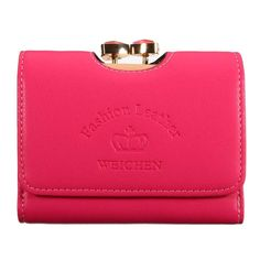 Material    PU Leather      Color    Pink,Blue,Rose Red,Black,Purple      Weight    170g      Length    12cm(4.72'')      Width    2.8cm(1.10'')      Height    10cm(3.94'')      Closure    Hasp       Package Include: 1  * Wallet