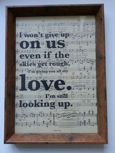 Framed A4 first dance quotation. Printed on 1930s French sheet music. Made to order. Perfect for weddings/anniversaries/Valentine's Day.