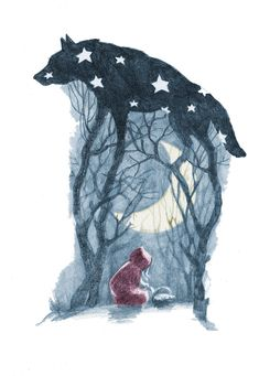Little Red Riding Hood illustration by Olga Kalinina