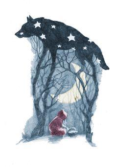 Little Red Riding Hood illustration by Olga Kalinina