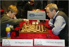 Wish you could have made Garry Kasparov sweat at 13 years old like Magnus Carlsen? 🤔 Then signup today for GM Damian Lemos' FREE rapid improvement masterclas. Logic Games, All Games, History Of Chess, Garry Kasparov, Magnus Carlsen, Chess Books, Chess Strategies, How To Play Chess, Art Through The Ages
