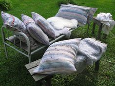 Rag rug pillows Diy