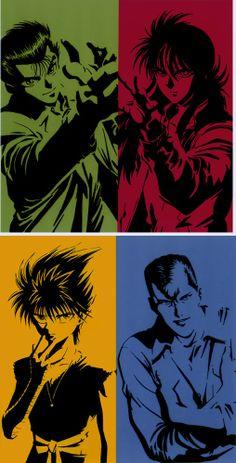Yusuke, Kurama, Kuwabara e Hiei  #YuYuHakusho