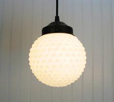 hobnail globe pendant light