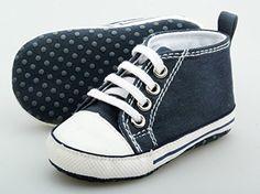 Quality Baby Boy Girl Infant Toddler Soft Sole Sneaker Crib Shoe Dark Blue