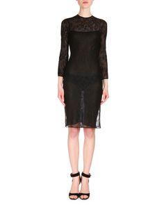 Semisheer Lace Sheath Dress