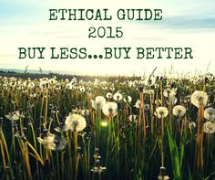 Ethical Guide 2015 Buy less....buy better      My golden rule for 2015 buy less....buy better! Here are some of my favourite ethical brands I discovered in 2014 to guide you on your way to buying better too!