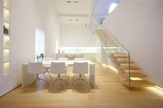 pure white open plan contemporary living || como loft by jm architecture
