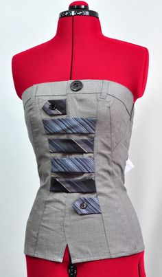 Handmade  Top - Jeviev - upcycled fashion. £50.00, via Etsy.