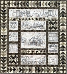 Vintage Tin Full Pattern Set  Another wonderful pattern from Crabapple Hill. I am doing this for my son in sepia tones