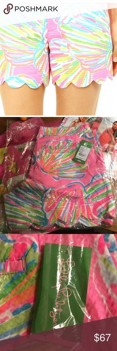 🌴Lilly  🌴Pulitzer Pink Pout ,Shellabrate , Short 🌴Lilly P Current Style , Buttercup Style, 10 Lilly Pulitzer Shorts