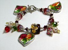 Broken China Bracelet  Broken China Charm by brambleberrybracelet, $75.00