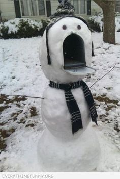 Snowman mailbox- this is SO happening.  ;)