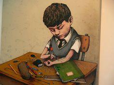 O artista Dran mostra a nossa indiferença