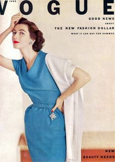 Dovima on the cover of Vogue 1952