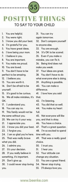 Helpful Positive parenting tips. 55 Positive things to say your kids. Build confidence in your kids with these positive phrases. The Words, Kids And Parenting, Parenting Hacks, Parenting Classes, Gentle Parenting, Natural Parenting, Affirmations For Kids, Raising Kids, Child Development