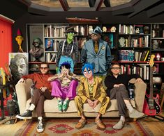 Here is a place where I will post all of the official Gorillaz art. I claim none of this art and it is all created by Jamie Hewlett. I will NOT be posting any fan art (including edits). Damon Albarn, Jamie Hewlett, Russel Hobbs, Schoolboy Q, Robert Smith, Jim Henson, Joy Division, Art Gorillaz, Monkeys Band