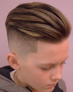 55 Cool Kids Haircuts: The Best Hairstyles For Kids To Get Guide) - Boys Slick Back Hair Hairstyle – Best Boys Haircuts: Cool Hairstyles For Little Boys – Cute Cut - Cool Kids Haircuts, Cute Boy Hairstyles, Boys Haircut Styles, Kids Hairstyles Boys, Boy Haircuts Short, Undercut Hairstyles, Boys Undercut, Teenage Hairstyles, Textured Hairstyles