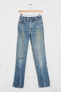 Vintage Levi's Denim Patch Jean #urbanoutfitters