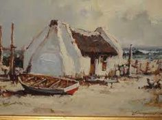 fisherman cottage - Google Search Fishermans Cottage, Awsome Pictures, Dutch House, White Cottage, Landscape Paintings, Oil Paintings, Art Oil, Beautiful Landscapes, Home Art