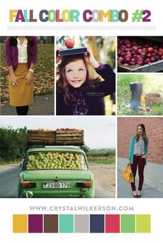 I am loving all of these gorgeous Fall pictures! There is so much inspiration to be found around the web. This week's color combo includes beautiful shades of purple, red, green, turquoise, brown,...