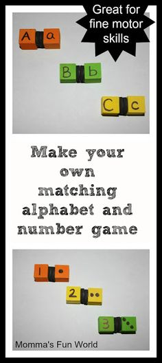 Make your own matching magnetic learning game.