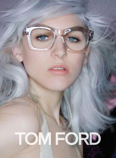 TOM FORD Spring/Summer 2016 ad campaign shot by Nick Knight in Los Angeles, featuring Lucky Blue Smith, Mica Arganaraz, and Lida Fox Lunette Tom Ford, Tom Ford Glasses, Eye Glasses, Tom Ford Eyewear, Lucky Blue Smith, Rose Colored Glasses, Girls With Glasses, Grey Hair, Geek Chic