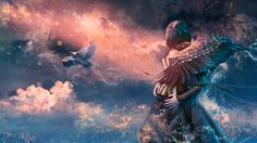 Fly away  Photomontage © Joanne Beauchemin - Artiste