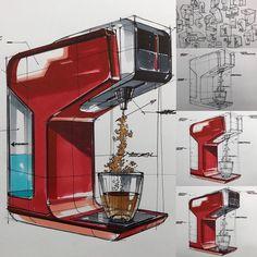 Coffee Machine Design, Structural Drawing, Tiger Wallpaper, Industrial Design Sketch, Interior Sketch, Conceptual Design, Higher Design, Sketch Design, Booth Design